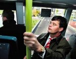 Prime minister Balkenende of the Netherlands rides the ParkShuttle